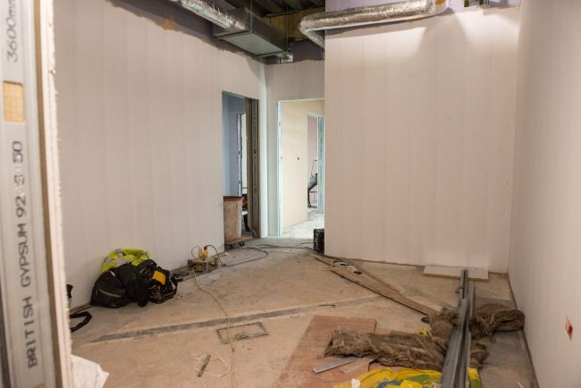 The forensic suite waiting room, each forensic pod contains a waiting room, examination room, shower and toilet along with an aftercare room