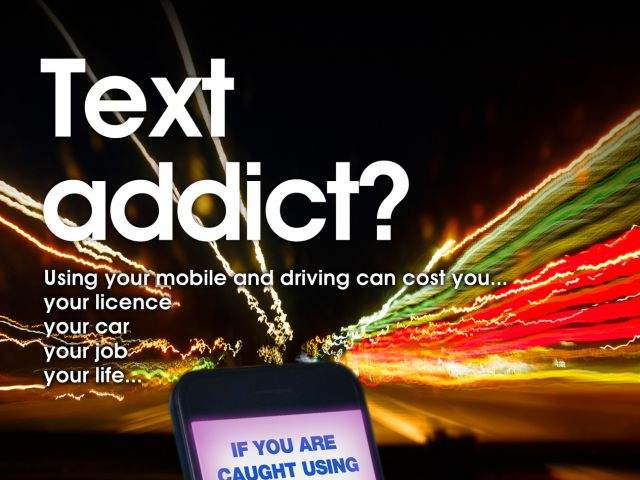 Text and Drive Campaign Poster