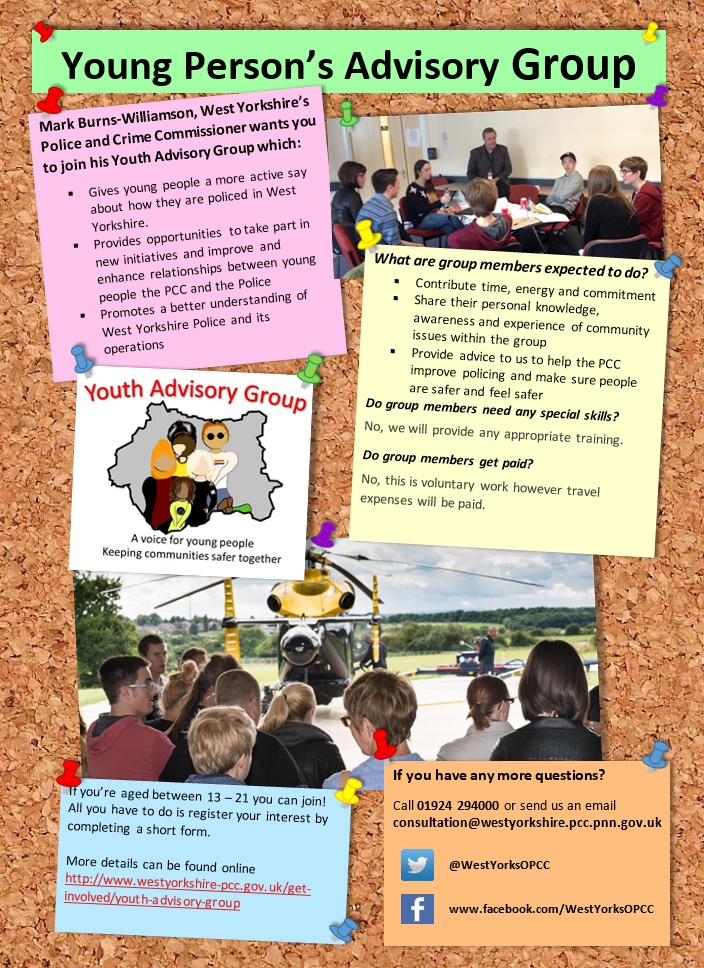Youth Advisory Group Recruitment Poster